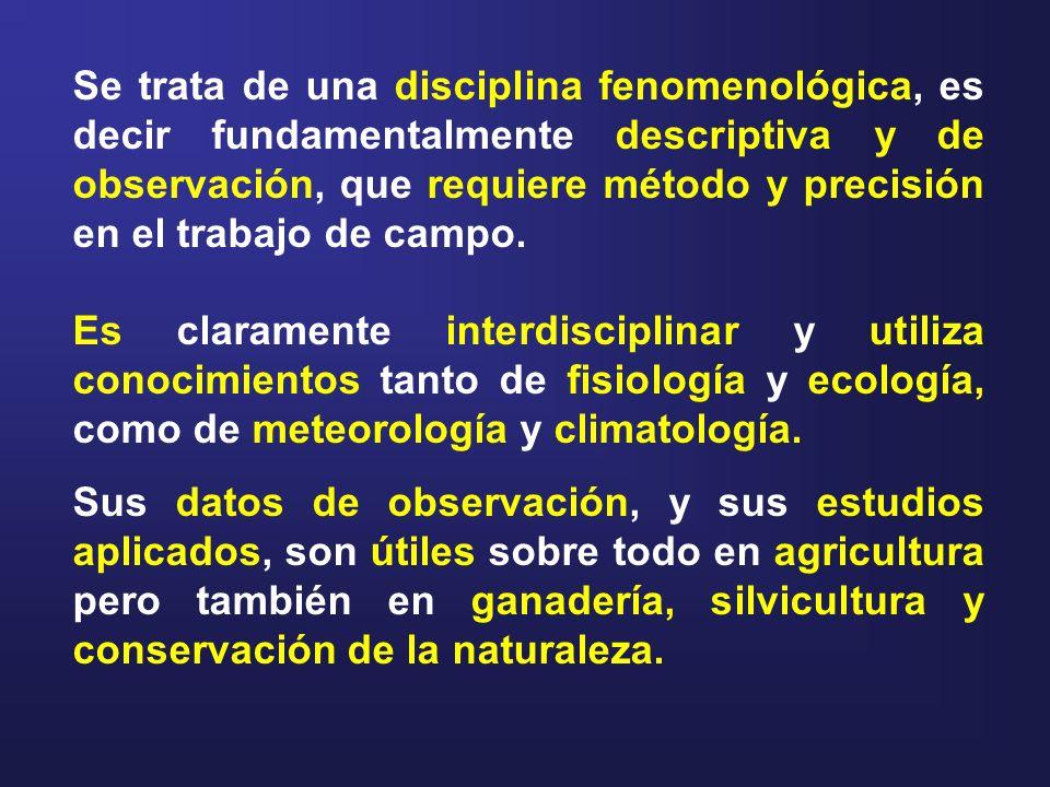Se trata de una disciplina fenomenológica, es decir fundamentalmente descriptiva y de observación, que requiere método y precisión en el trabajo de campo.