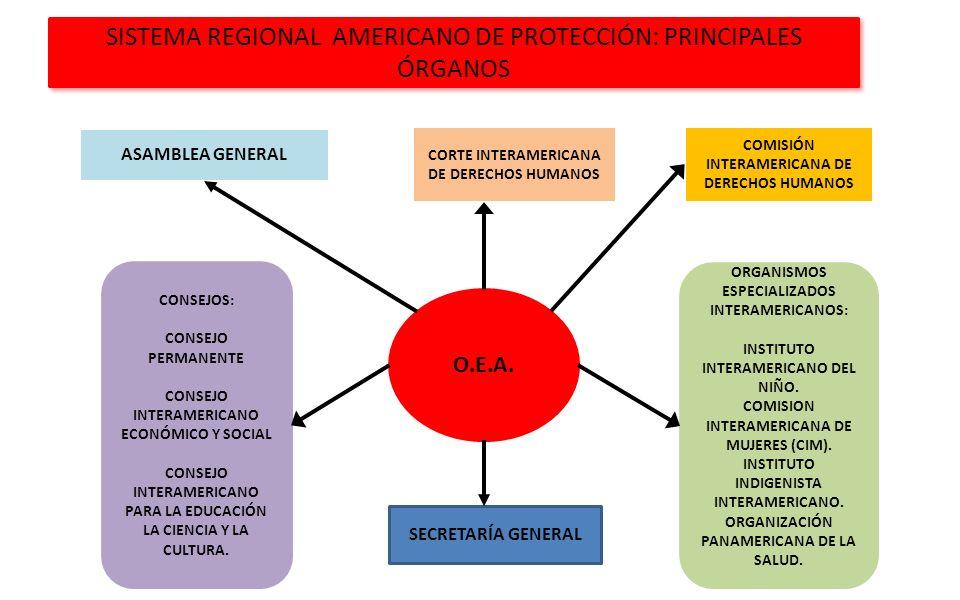 SISTEMA REGIONAL AMERICANO DE PROTECCIÓN: PRINCIPALES ÓRGANOS
