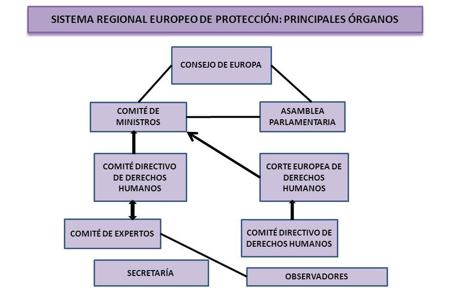 SISTEMA REGIONAL EUROPEO DE PROTECCIÓN: PRINCIPALES ÓRGANOS