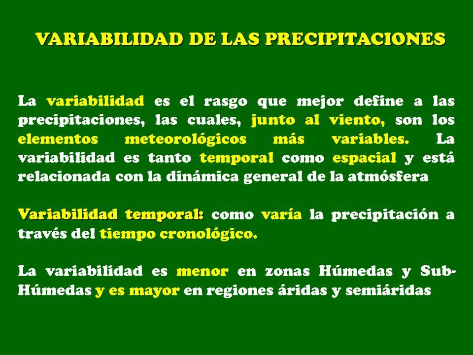 VARIABILIDAD DE LAS PRECIPITACIONES