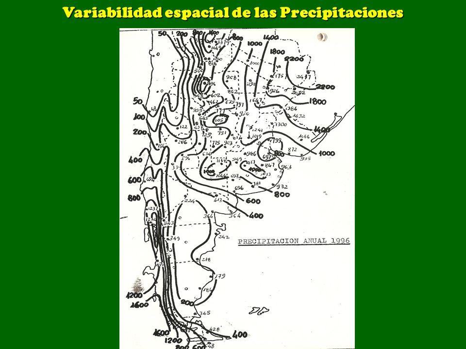 Variabilidad espacial de las Precipitaciones