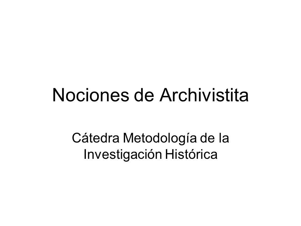 Nociones de Archivistita