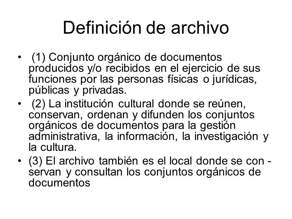 Definición de archivo