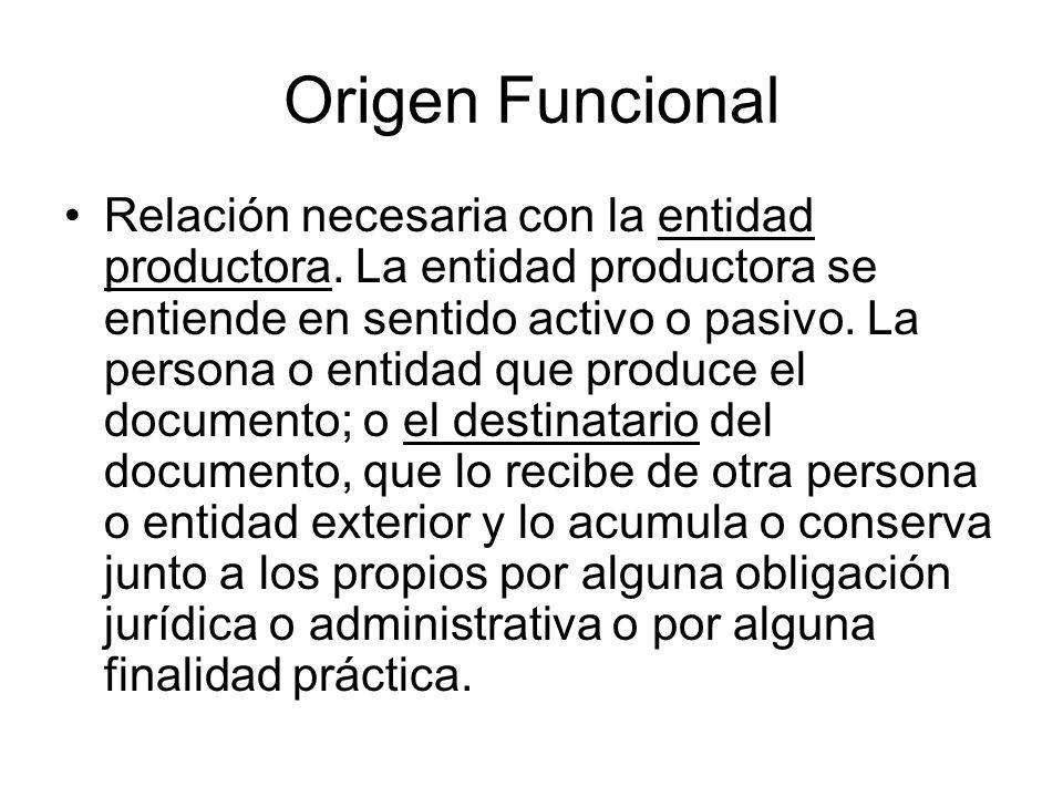 Origen Funcional