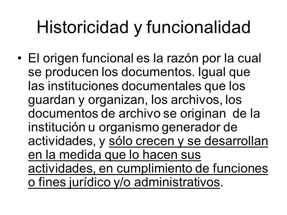 Historicidad y funcionalidad