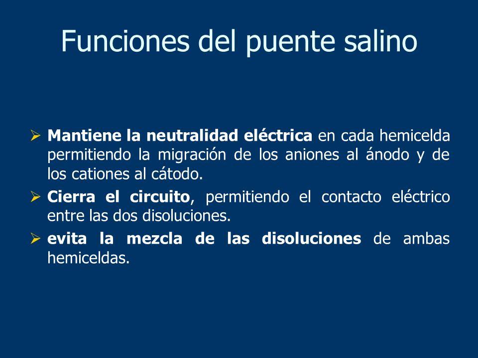 Funciones del puente salino