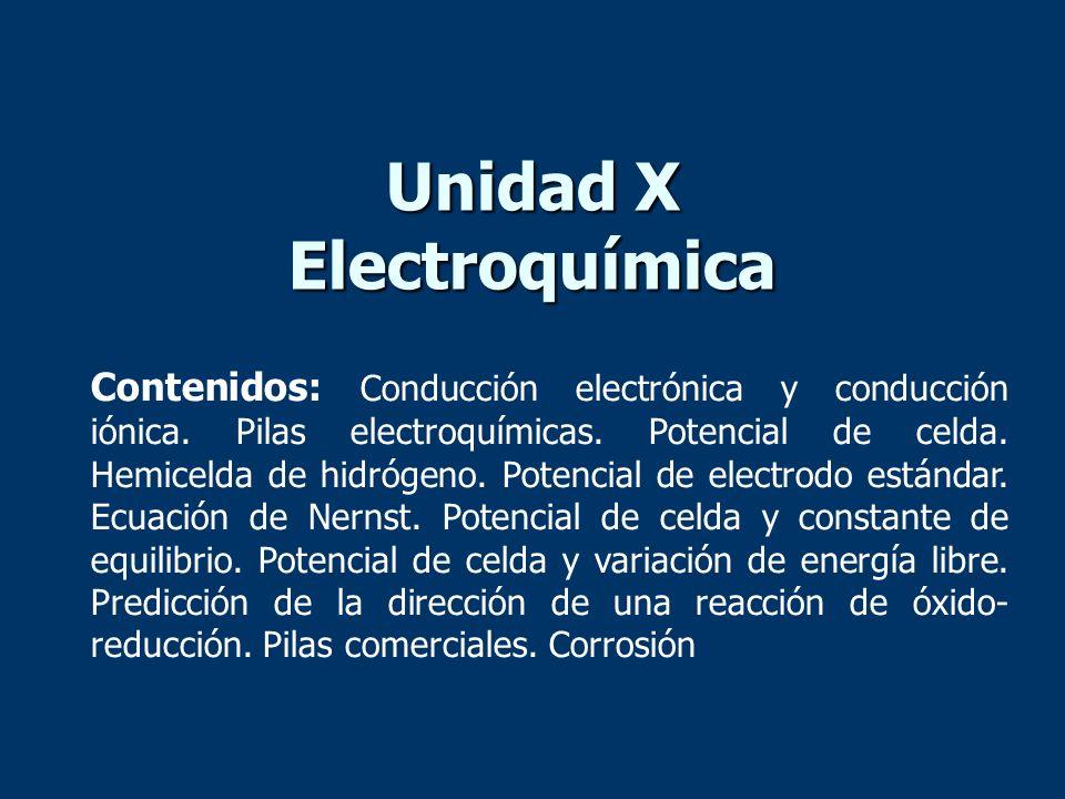 Unidad X Electroquímica