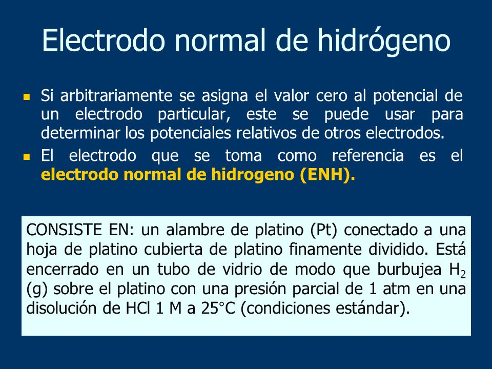 Electrodo normal de hidrógeno