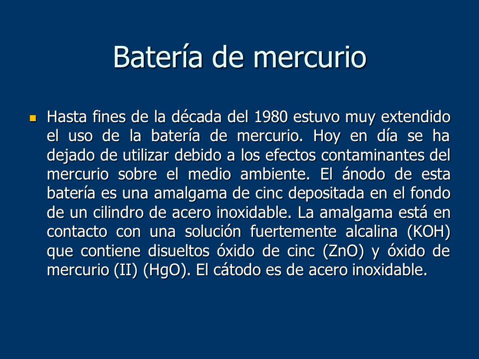Batería de mercurio