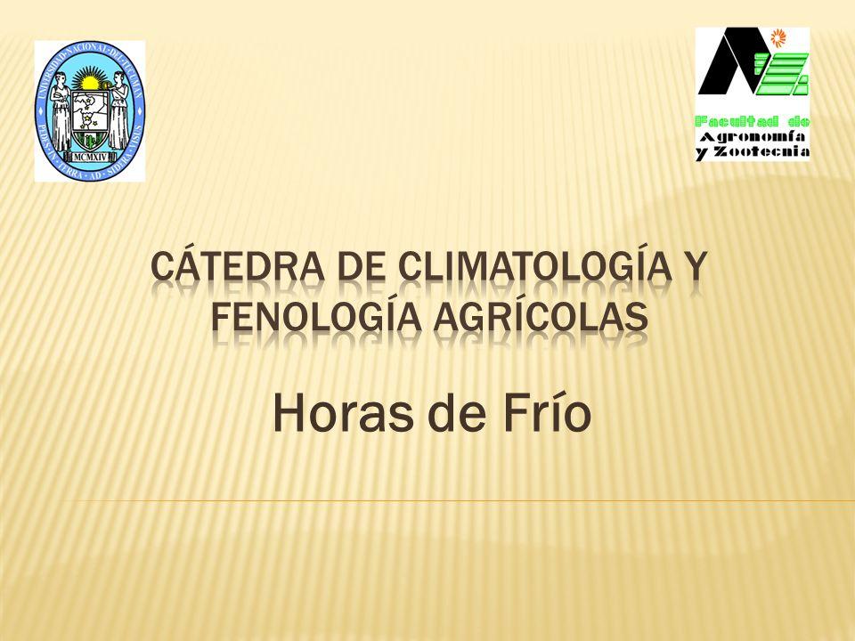 Cátedra de Climatología y Fenología Agrícolas