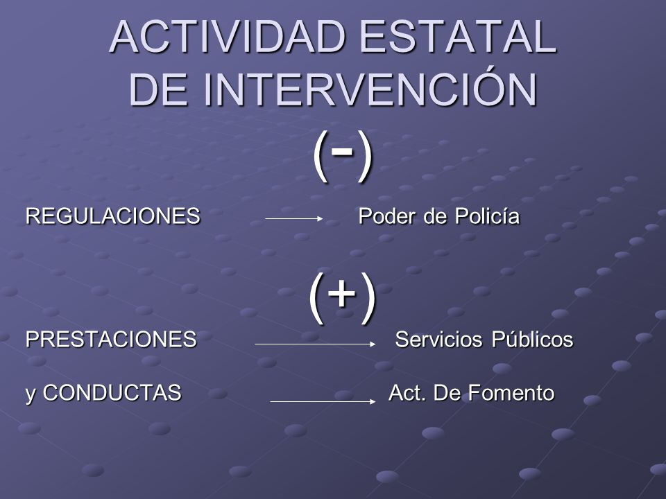 ACTIVIDAD ESTATAL DE INTERVENCIÓN