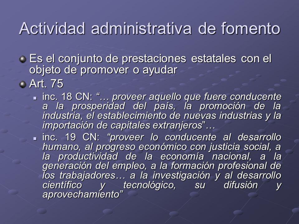 Actividad administrativa de fomento