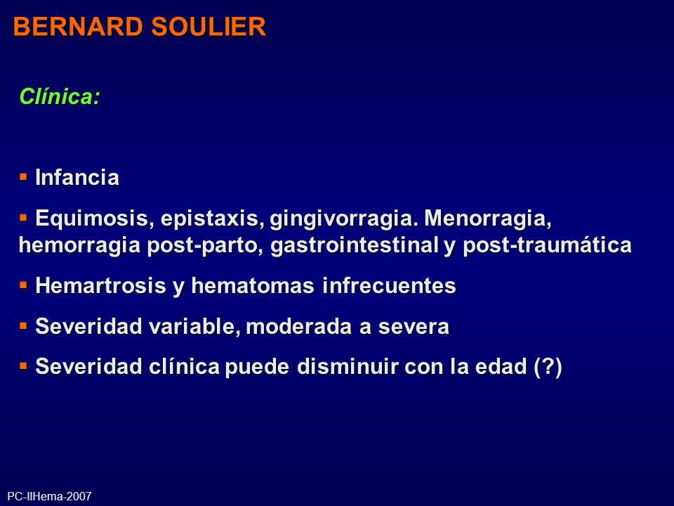 BERNARD SOULIER Clínica: Infancia