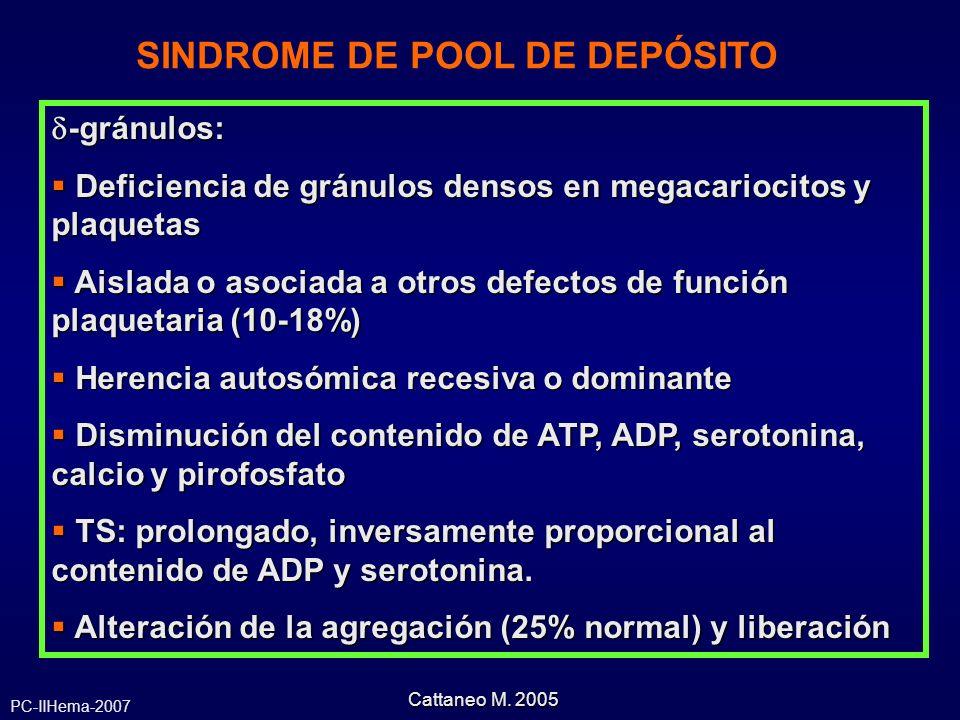 SINDROME DE POOL DE DEPÓSITO