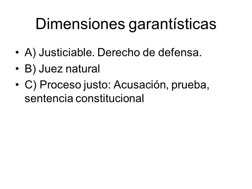 Dimensiones garantísticas