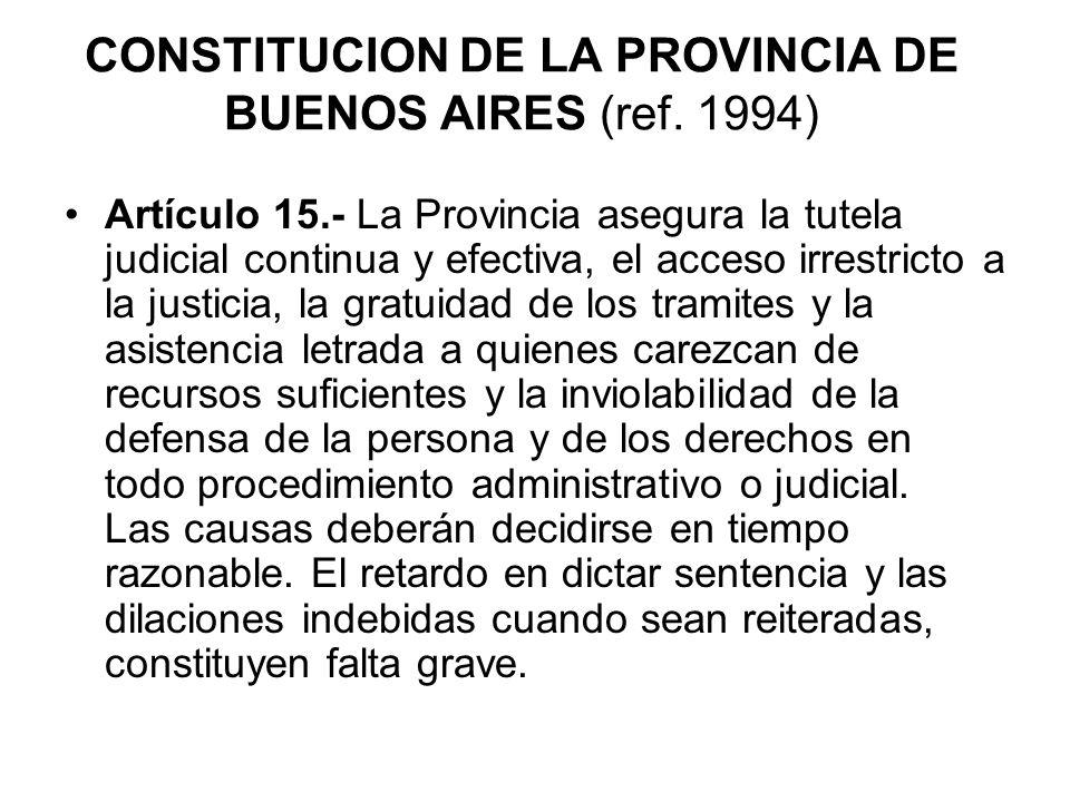 CONSTITUCION DE LA PROVINCIA DE BUENOS AIRES (ref. 1994)