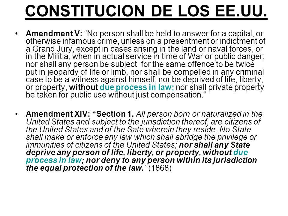 CONSTITUCION DE LOS EE.UU.