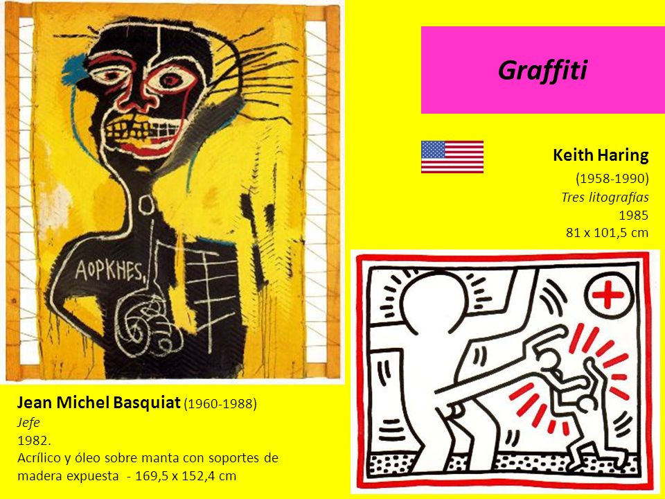 Graffiti Keith Haring (1958-1990) Jean Michel Basquiat (1960-1988)