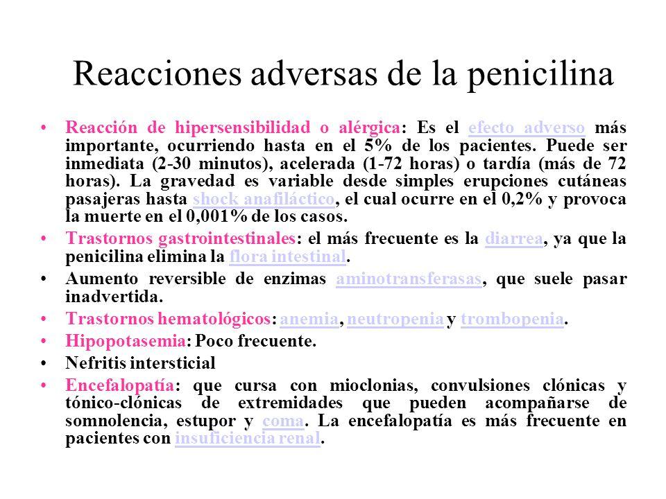Reacciones adversas de la penicilina