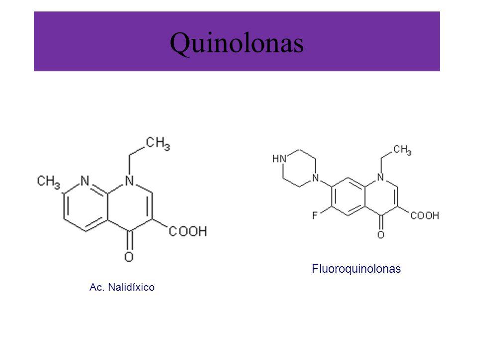Quinolonas Fluoroquinolonas Ac. Nalidíxico