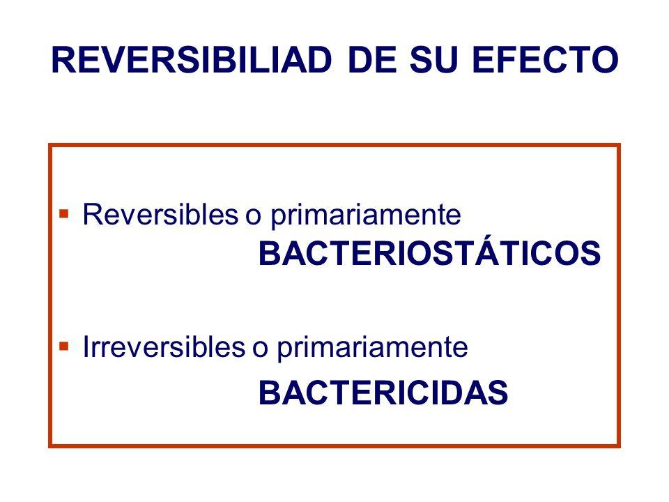 REVERSIBILIAD DE SU EFECTO