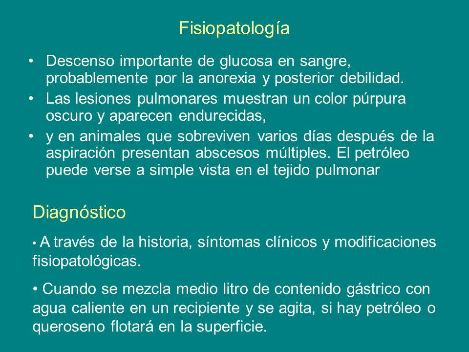 Fisiopatología Diagnóstico