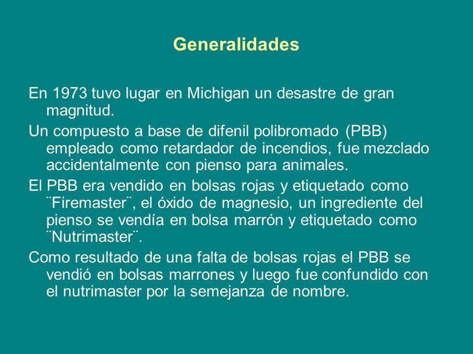 Generalidades En 1973 tuvo lugar en Michigan un desastre de gran magnitud.