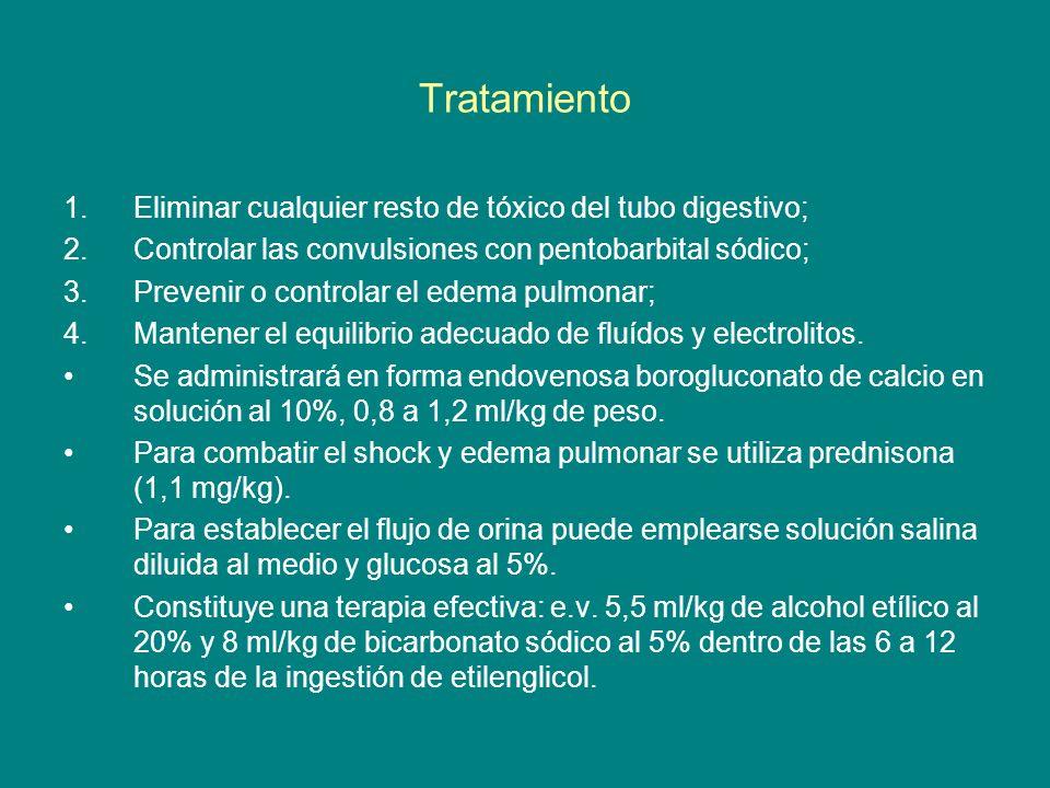 Tratamiento Eliminar cualquier resto de tóxico del tubo digestivo;