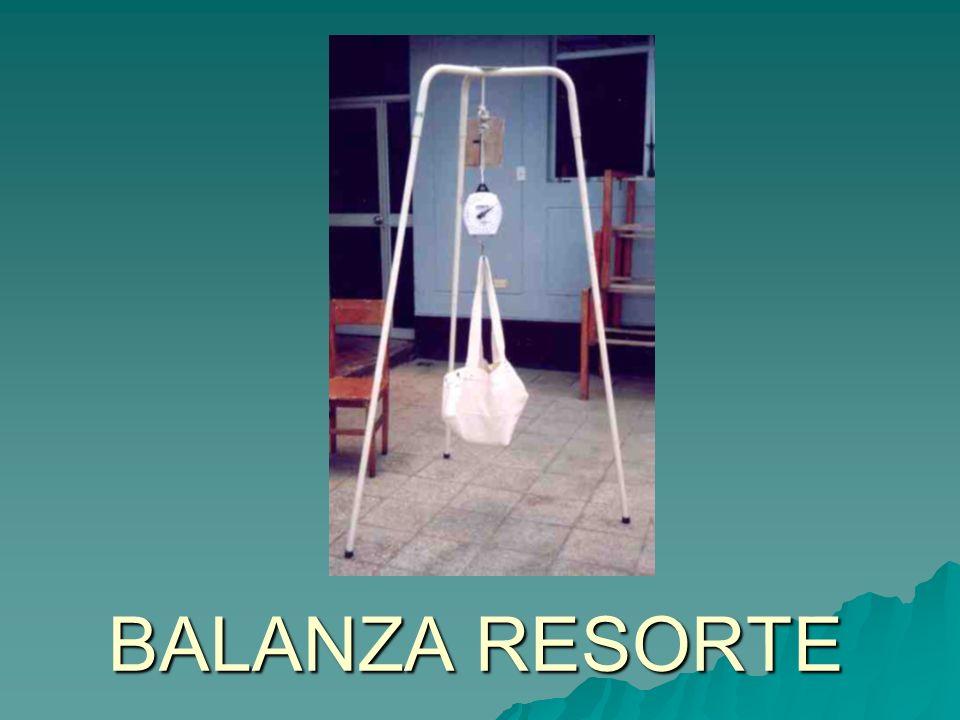 BALANZA RESORTE