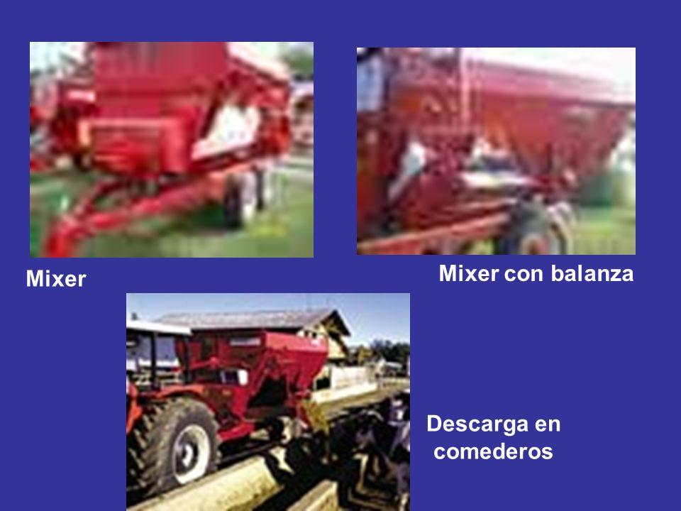 Mixer con balanza Mixer Descarga en comederos