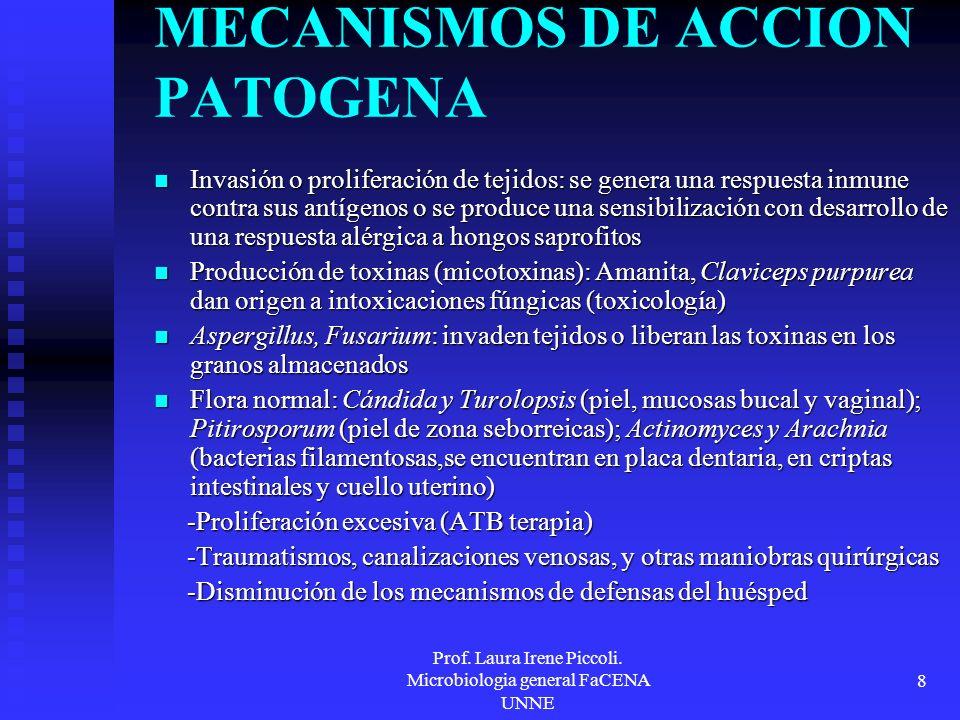MECANISMOS DE ACCION PATOGENA