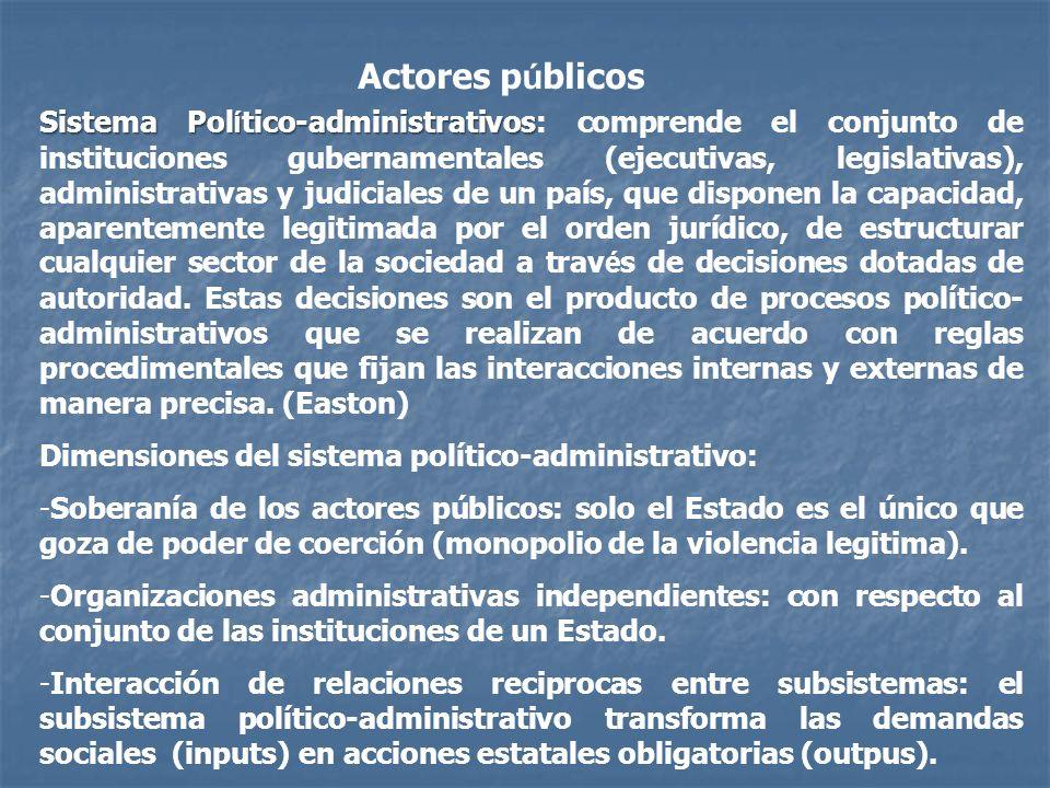 Actores públicos