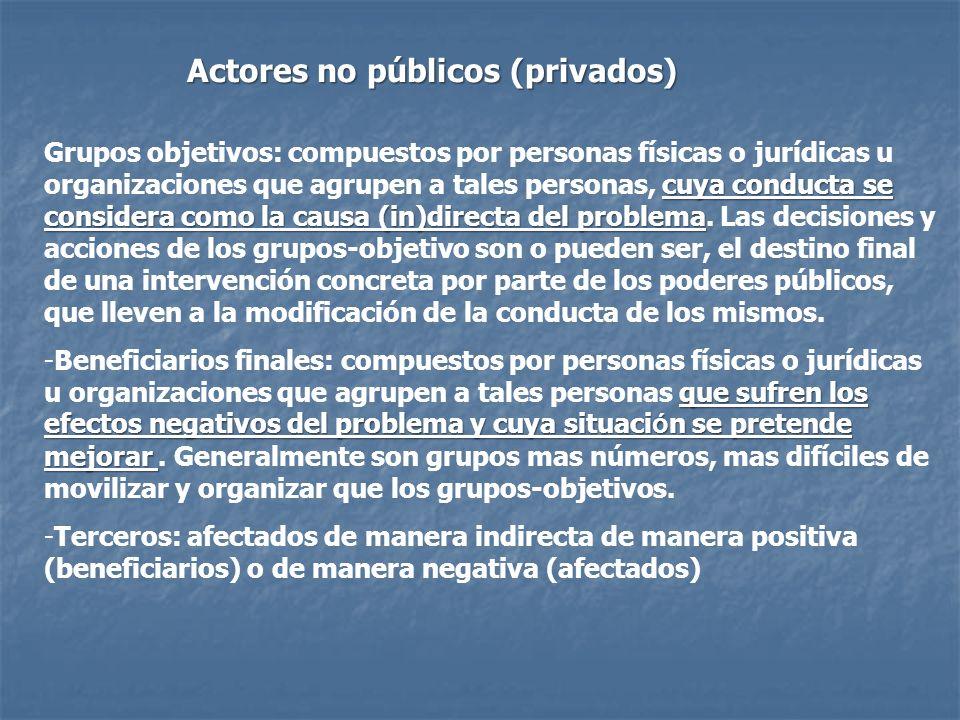 Actores no públicos (privados)