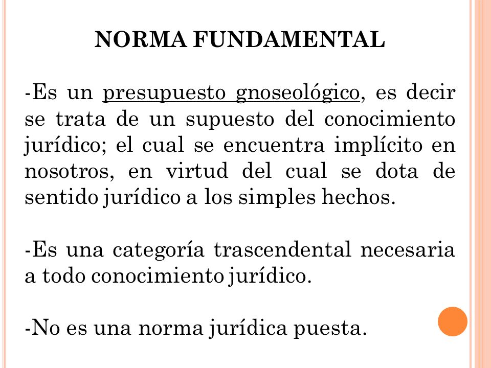 NORMA FUNDAMENTAL