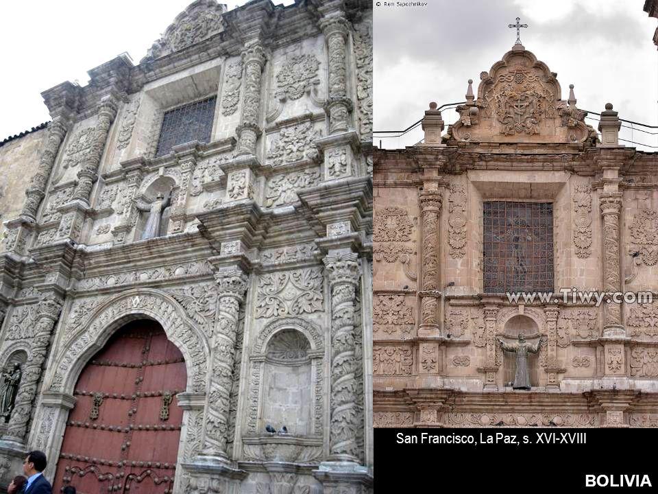 San Francisco, La Paz, s. XVI-XVIII