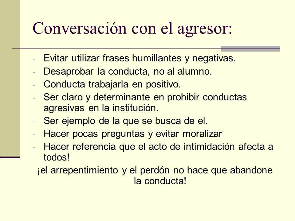 Conversación con el agresor:
