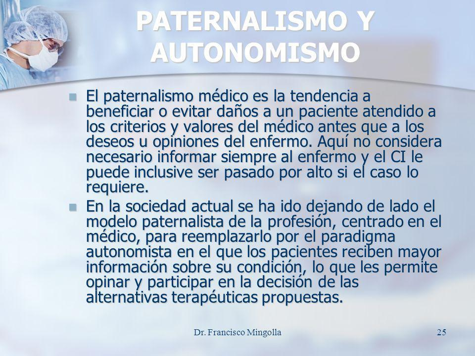PATERNALISMO Y AUTONOMISMO