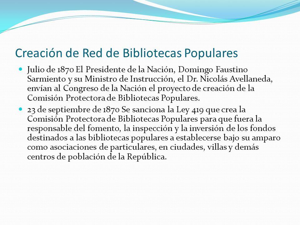 Creación de Red de Bibliotecas Populares