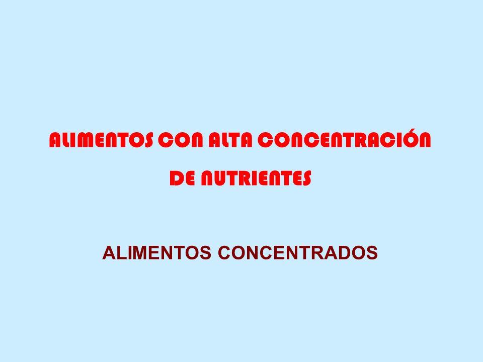 ALIMENTOS CON ALTA CONCENTRACIÓN ALIMENTOS CONCENTRADOS