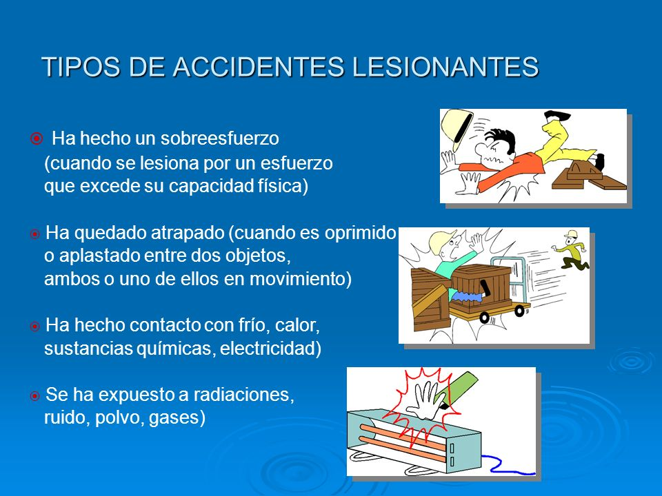 TIPOS DE ACCIDENTES LESIONANTES