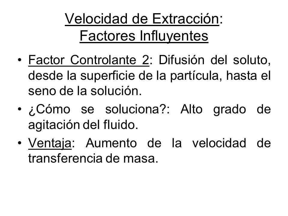 Velocidad de Extracción: Factores Influyentes