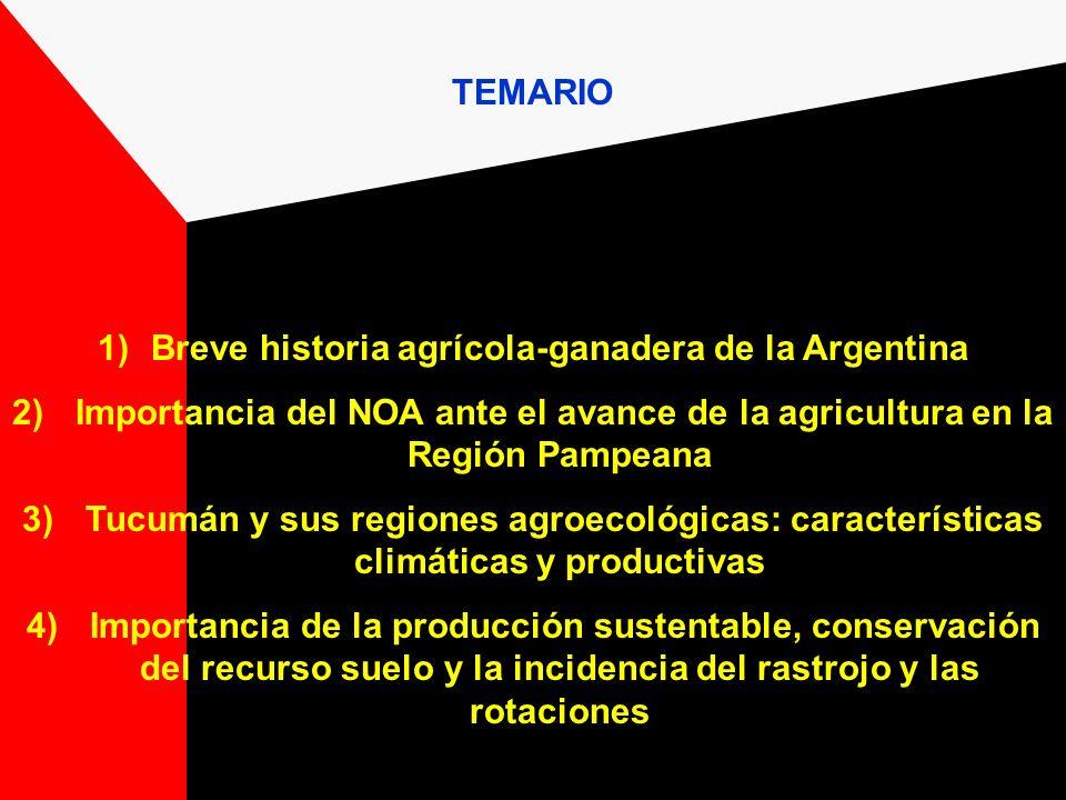 Breve historia agrícola-ganadera de la Argentina