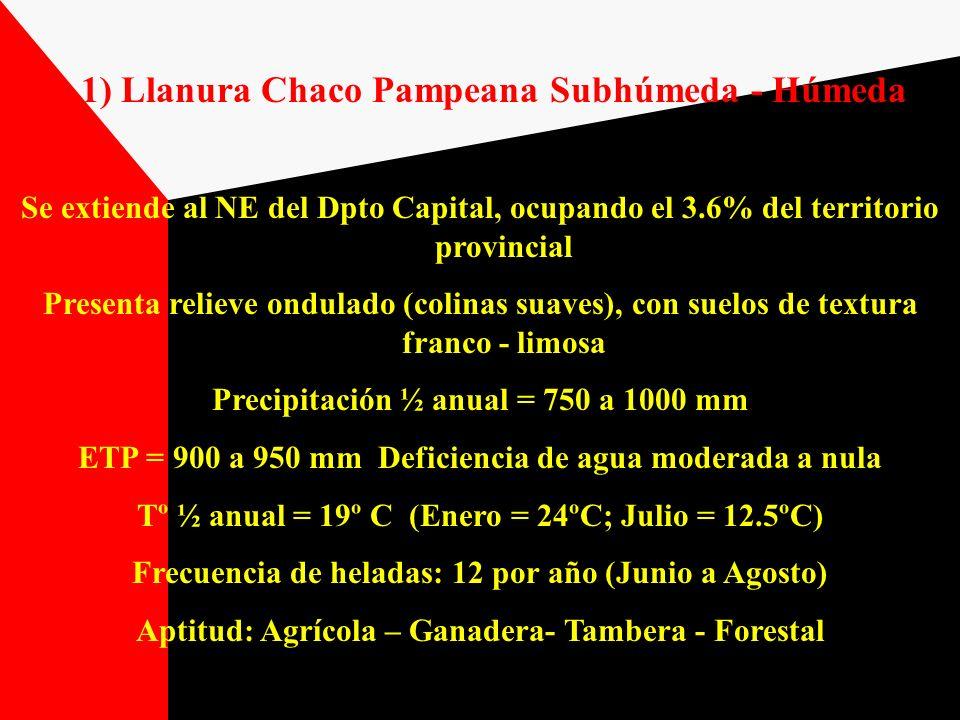 1) Llanura Chaco Pampeana Subhúmeda - Húmeda