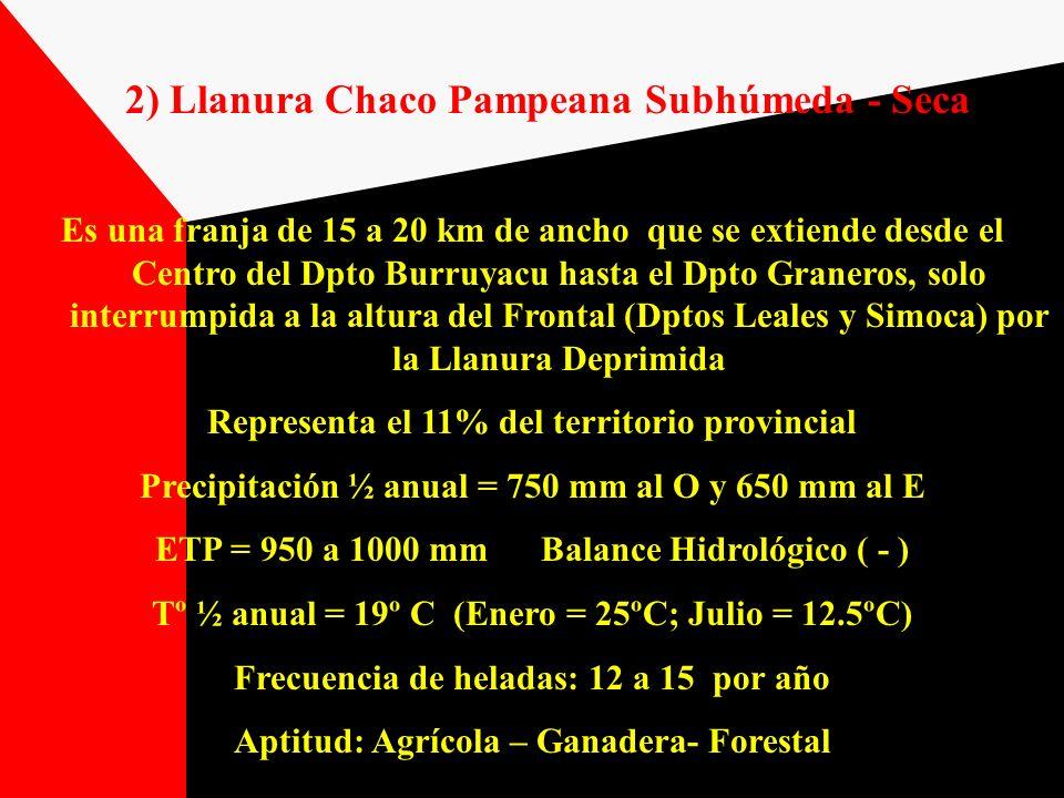 2) Llanura Chaco Pampeana Subhúmeda - Seca