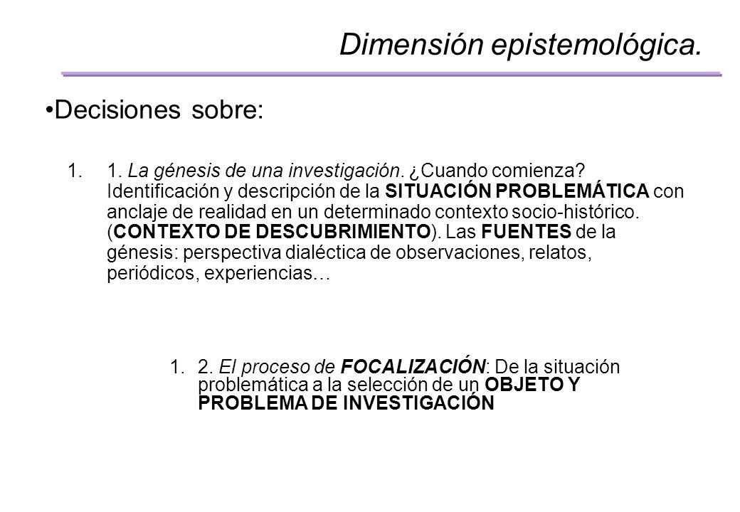 Dimensión epistemológica.