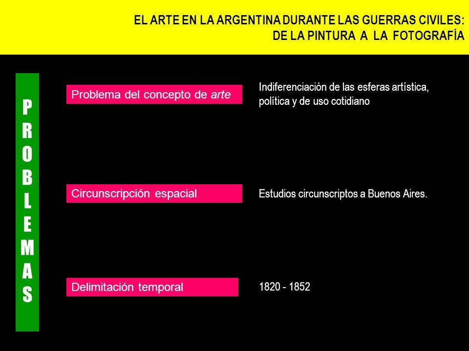 PROBLEMAS EL ARTE EN LA ARGENTINA DURANTE LAS GUERRAS CIVILES: