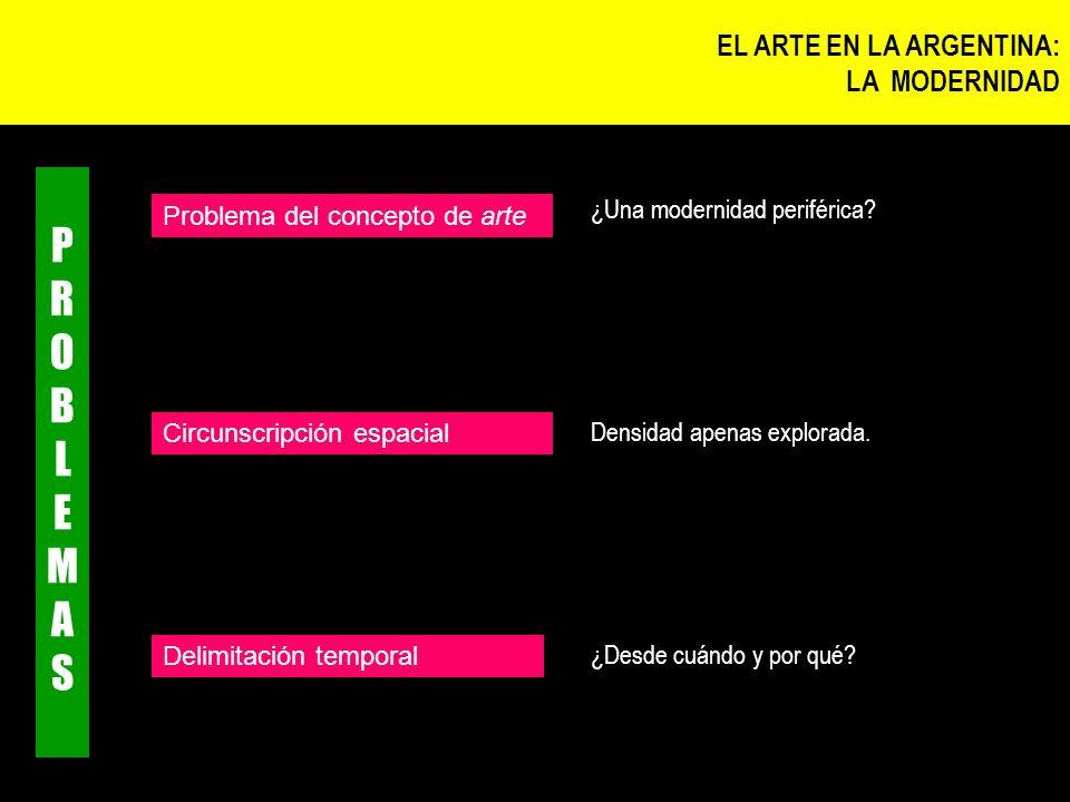 PROBLEMAS EL ARTE EN LA ARGENTINA: LA MODERNIDAD