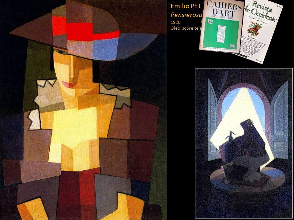 Emilio PETTORUTI (1892-1971) Pensierosa Sol argentino 1920