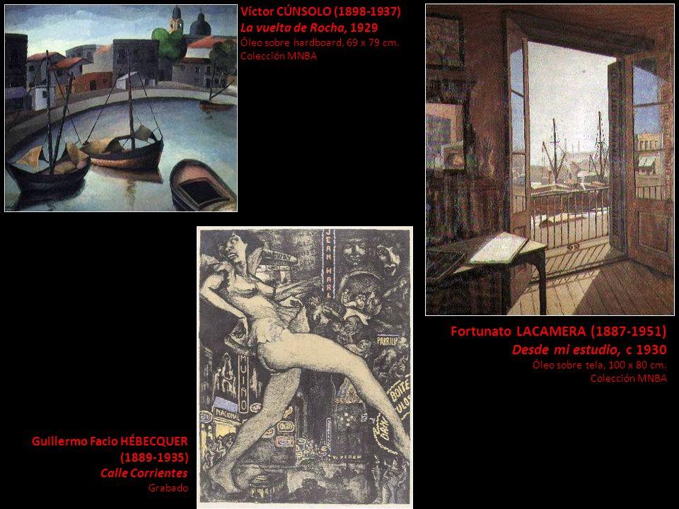 Víctor CÚNSOLO (1898-1937) La vuelta de Rocha, 1929 Óleo sobre hardboard, 69 x 79 cm. Colección MNBA