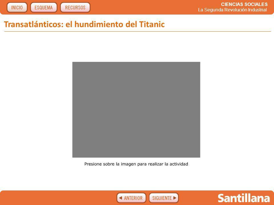 Transatlánticos: el hundimiento del Titanic